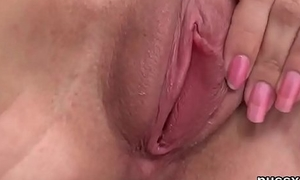 European unspecified enjoys bizzare fuck toy together with stuffs big vibro in snatch