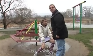 Wasting away teen gets a autocratic hardcore fuck foreign an older man