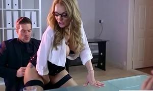 (Stacey Saran) Super Slut Office Unsubtle Love Hardcore Sex clip-29