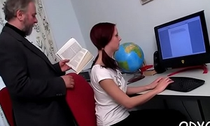 Teen seductress gts it one's addresses to old dude and gives oral-stimulation