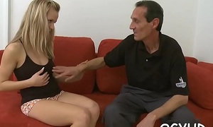Valuable young babe rides old rod