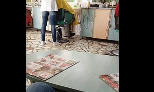 Romanian Hairdresser listen in morose irritant MILF
