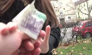 Russian brunette Milf earns fast cash apart from flashing her panties to a outlander