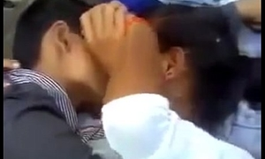 Indian Academy Group Couples Having Enjoyment Outdoor