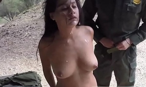 Bobby threesome widely Border Patrol agents found this Latina woman