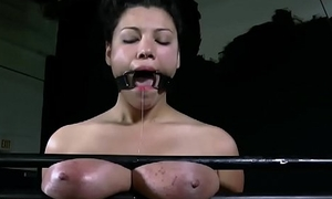 Perverted torturing of babe'_s pussy