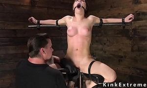 Busty slave rummage sale vined and caned