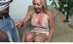 Hardcore interracial sex at hand sexy MILF 20